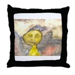 figure and landscape Throw Pillow