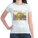 figure and landscape Jr. Ringer T-Shirt