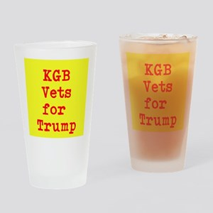 KGB Vets for Trump Drinking Glass