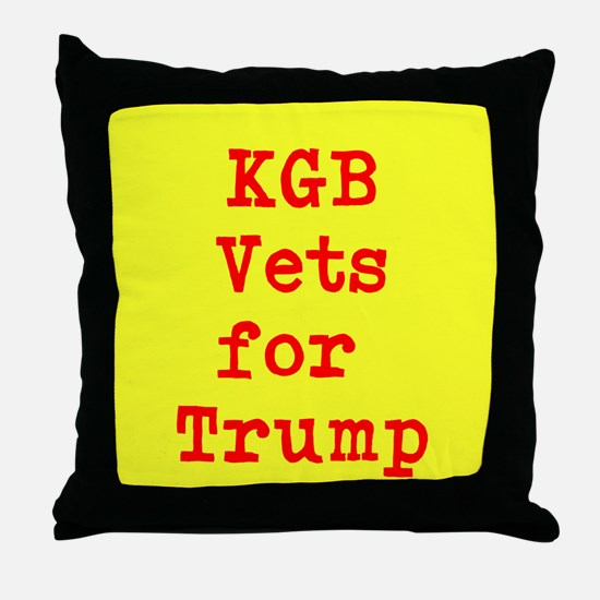 KGB Vets for Trump Throw Pillow