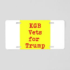 KGB Vets for Trump Aluminum License Plate