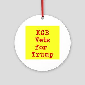 KGB Vets for Trump Round Ornament