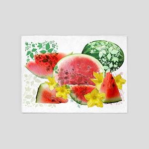 Crispy Watermelon Burst 5'x7'Area Rug