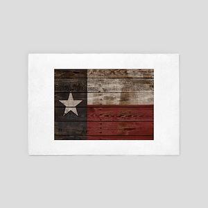 Texas Flag Wood Crate 4' x 6' Rug
