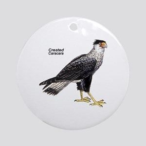Crested Caracara Bird Keepsake (Round)