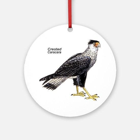 Crested Caracara Bird Keepsake (Round)