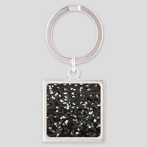 chic glitter black Sequins Keychains