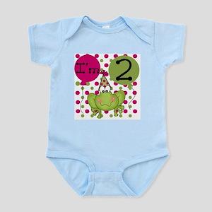 Frog 2nd Birthday (pink) Infant Bodysuit