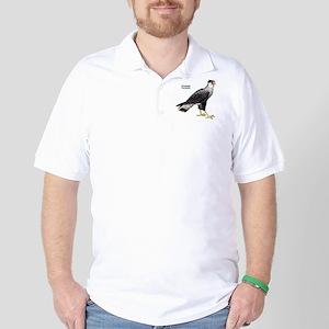 Crested Caracara Bird Golf Shirt