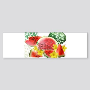 Crispy Watermelon Burst Bumper Sticker