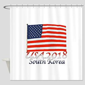 Pyeongchang, South Korea Shower Curtain