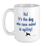 Dogs Run Naked Large Mug