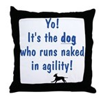 Dogs Run Naked Throw Pillow
