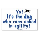Dogs Run Naked Rectangle Sticker