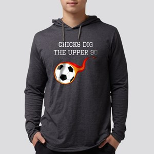Chicks Dig The Upper 90 Long Sleeve T-Shirt