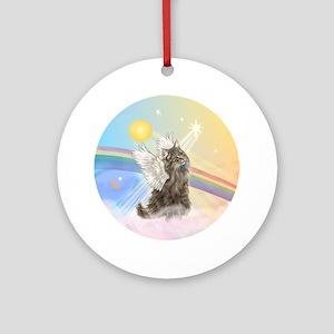 Norwegian Forest Cat Angel Ornament (Round)