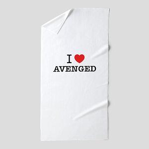 I Love AVENGED Beach Towel