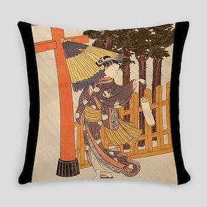 Japanese Women in Kimono Everyday Pillow