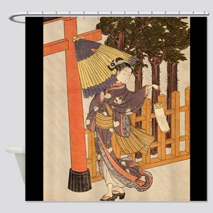 Japanese Women in Kimono Shower Curtain
