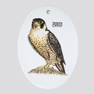 Peregrine Falcon Bird Keepsake (Oval)