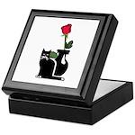 Black Cat and Rose Keepsake Box