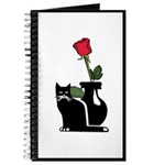 Black Cat and Rose Journal