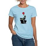 Black Cat and Rose Women's Light T-Shirt