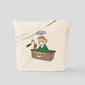 Man in Penalty Box Tote Bag