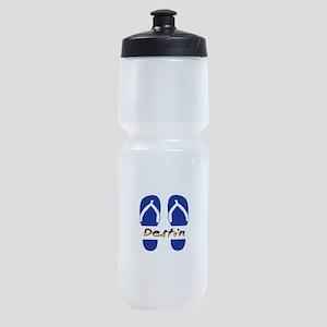 Destin Florida Flip Flops Sports Bottle