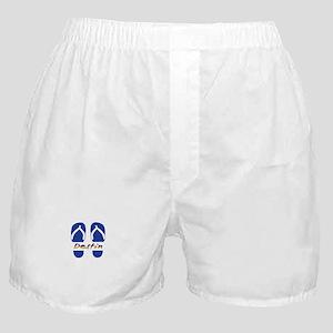 Destin Florida Flip Flops Boxer Shorts