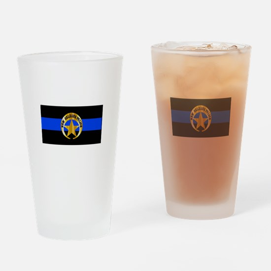 NOPD Thin Blue Line Drinking Glass