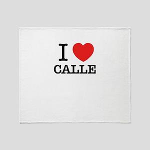 I Love CALLE Throw Blanket