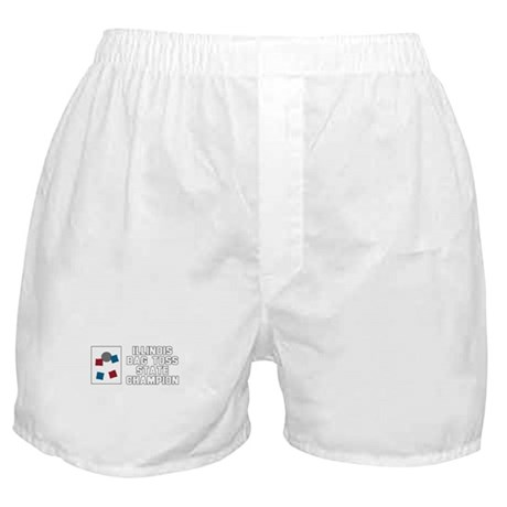 Illinois Bag Toss State Champ Boxer Shorts