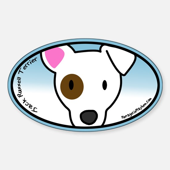Anime Jack Russell Oval Decal