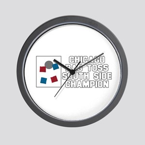 Chicago Bag Toss South Side C Wall Clock