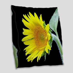 Small Sunflower Burlap Throw Pillow