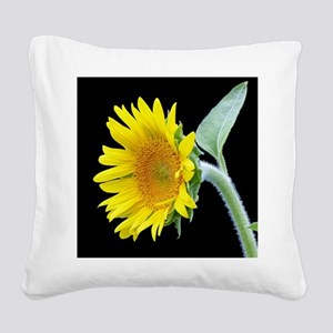 Small Sunflower Square Canvas Pillow