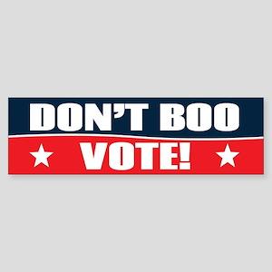 Don't Boo, VOTE! Sticker (Bumper)
