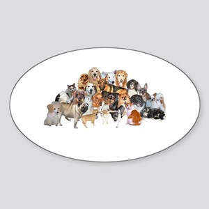 Other Dogs and Cats Oval Sticker