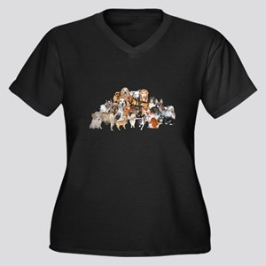 Other Dogs and Cats Women's Plus Size V-Neck Dark
