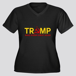 Trump Make Russia Great Again Plus Size T-Shirt