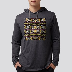 yellow floral tribal pattern Long Sleeve T-Shirt