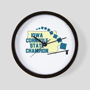 Iowa Cornhole State Champion Wall Clock