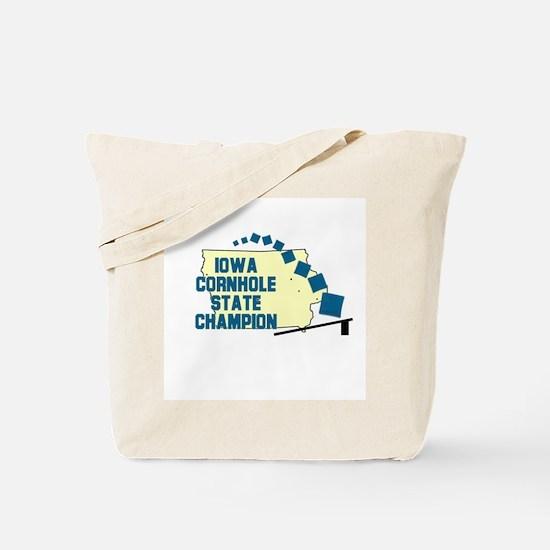 Iowa Cornhole State Champion Tote Bag