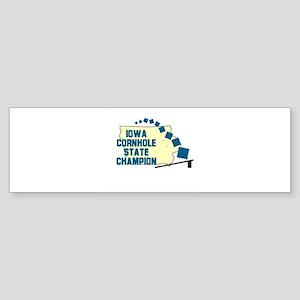 Iowa Cornhole State Champion Bumper Sticker