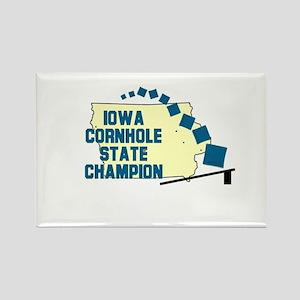 Iowa Cornhole State Champion Rectangle Magnet