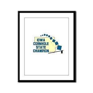 Iowa Cornhole State Champion Framed Panel Print