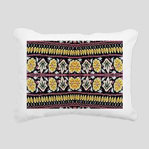 yellow floral tribal pat Rectangular Canvas Pillow