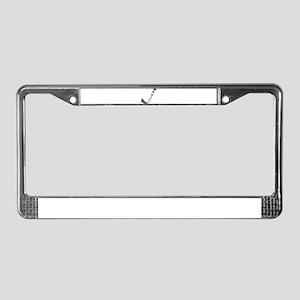 Scared Hockey Stick License Plate Frame
