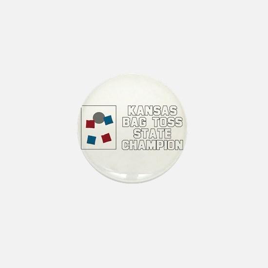 Kansas Bag Toss State Champio Mini Button